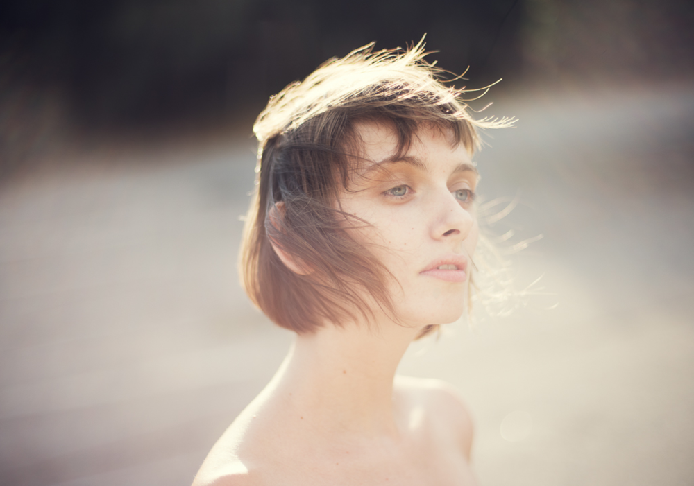 Natural light portrait model