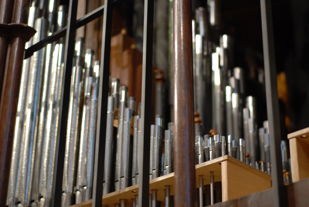 Pipework of the organ