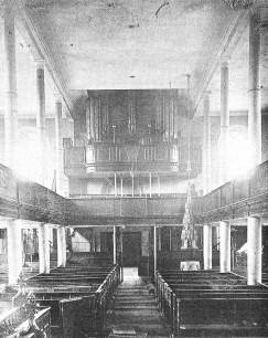 The old Nave with organ above the entrance