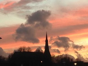 Evening Picture of church by Doreen Gisbourne 2.jpg
