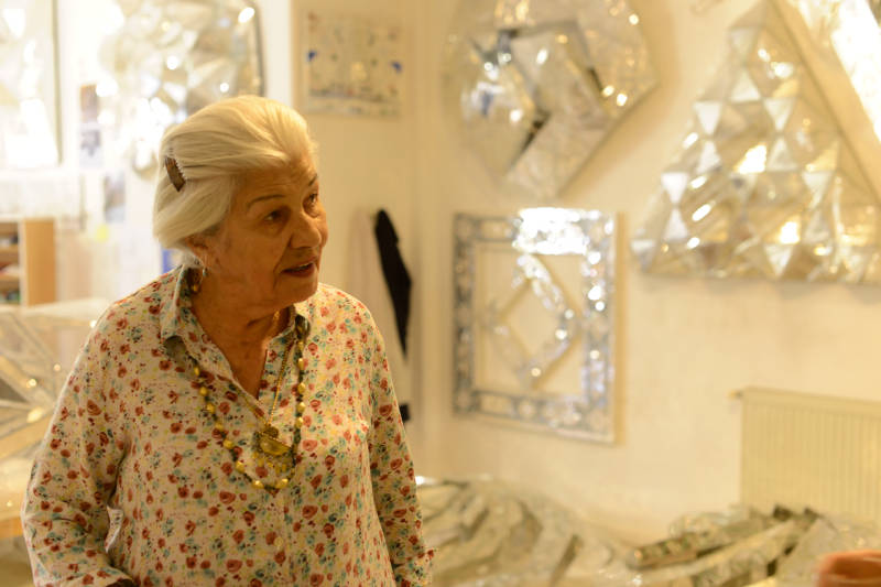 Monir, in her studio, the second time we met.
