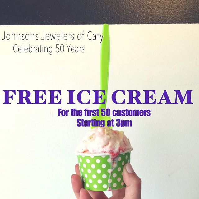 """As a way to say """"thank you"""" to all of our loyal customers, we are giving away some @freshlocalicecream today beginning at 3pm! Come on in and say hi! It is a perfect day to enjoy some cold Fresh Ice Cream! *for the first 50 customers, no purchase necessary **"""
