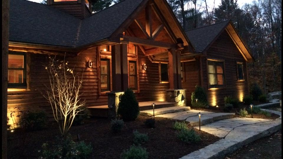 Landscape Lighting in Bethel, NY by Landworx Landscaping of NY.