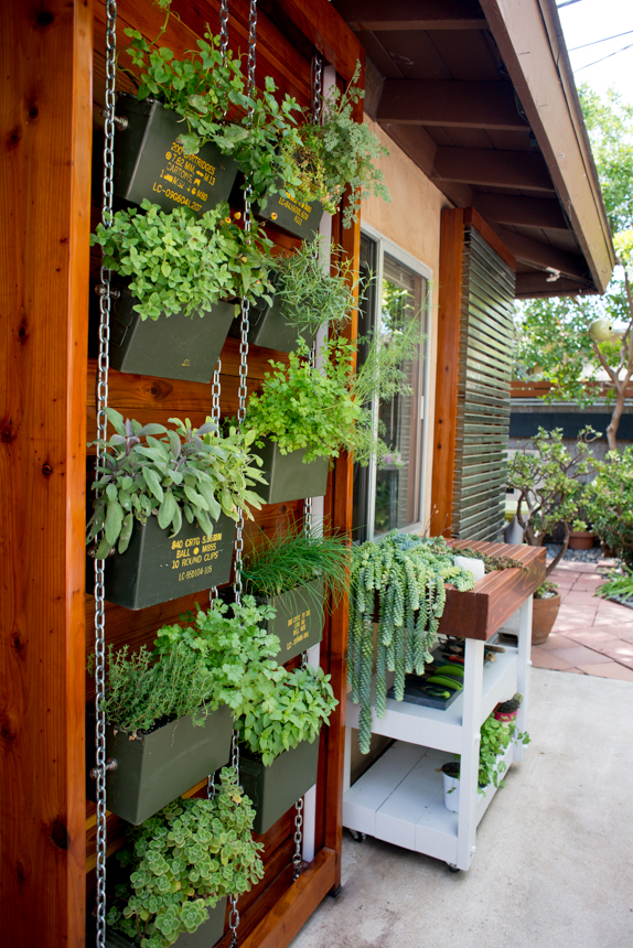 Ammo Can Vertical Herb Garden by Ryan Benoit