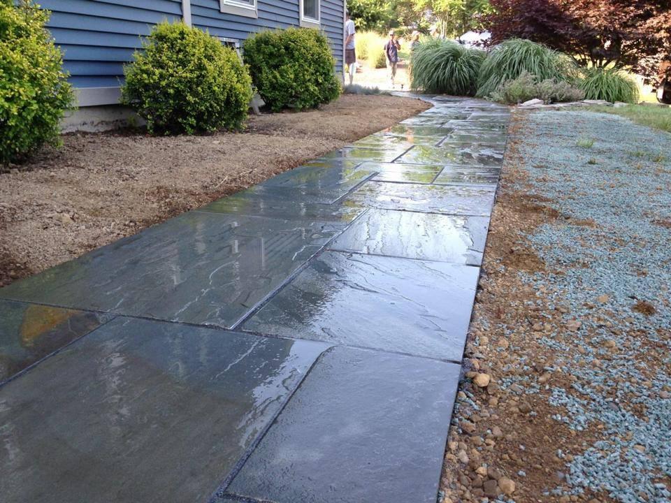 Bluestone walkway landscaping ideas in Goshen NY