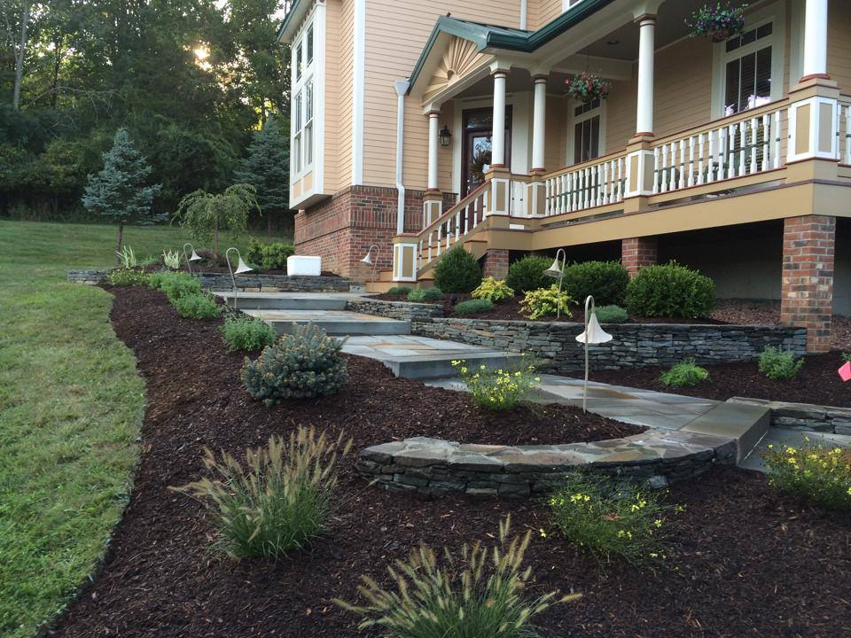 stone walkway and mulching in bethel, goshen, warwick, pine island, ny