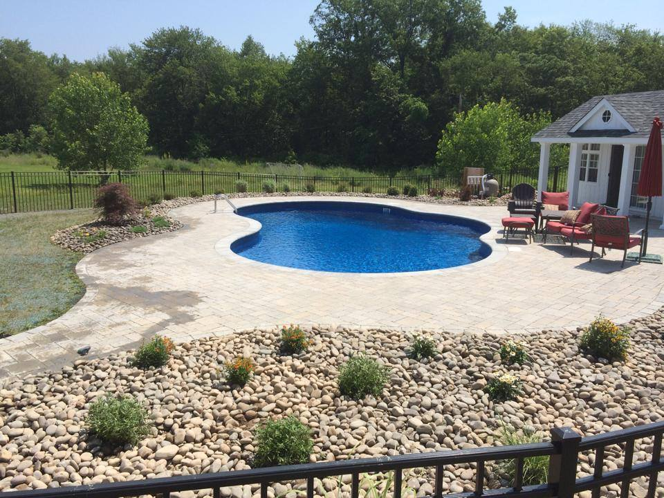 Top patio with swimming pool in Chester NY