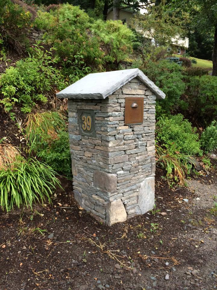 stone mailbox landscaping in goshen, warwick, pine island, ny