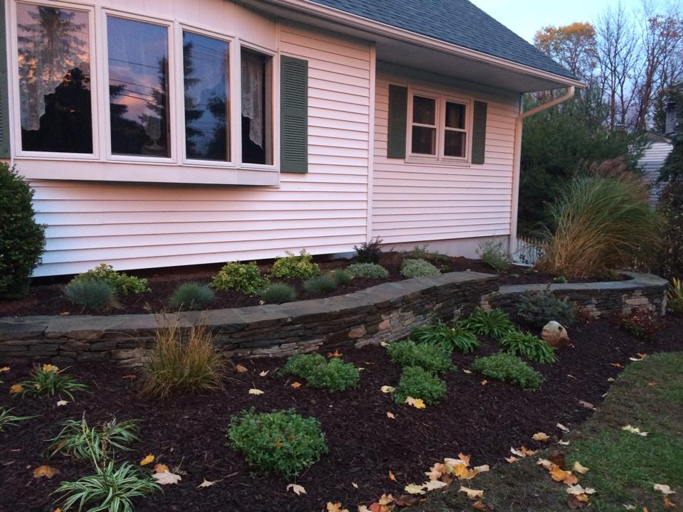 front house landscaping in  goshen, warwick, pine island, ny