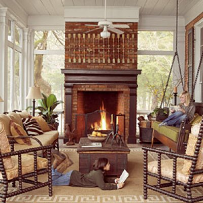 Southern Living Magazine shares their favorite outdoor rooms for the fall season.