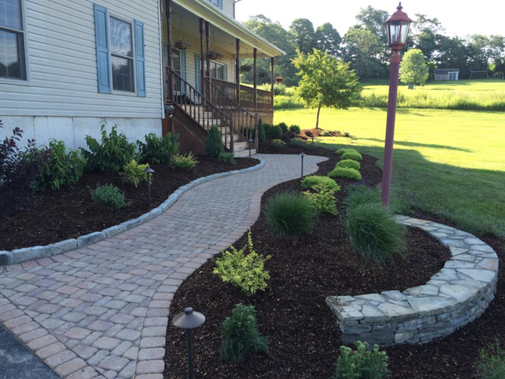 walkway with concrete pavers in bethel, goshen, warwick, pine island, ny
