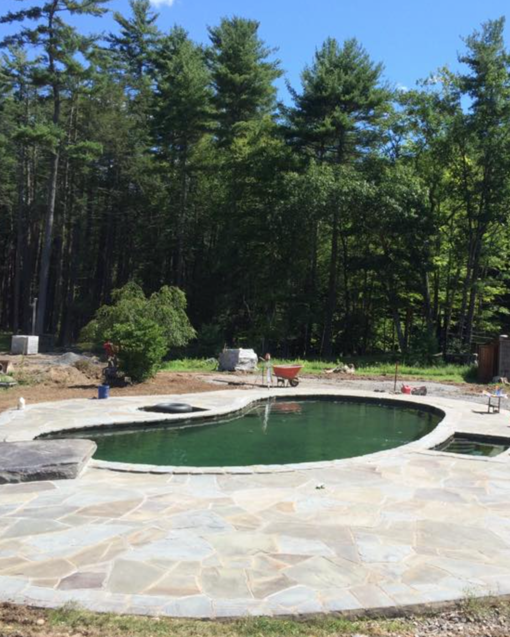 swimming pool landscaping in goshen, ny