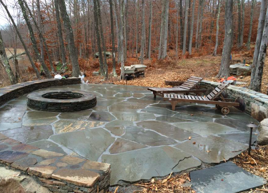 bluestone fire pit in orange county, ny