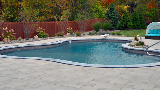 Pictured: a swimming pool project by Landworx.
