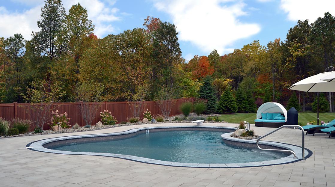 Swimming Pool Landscaping Grasses Landworx Of Ny Landscape Design