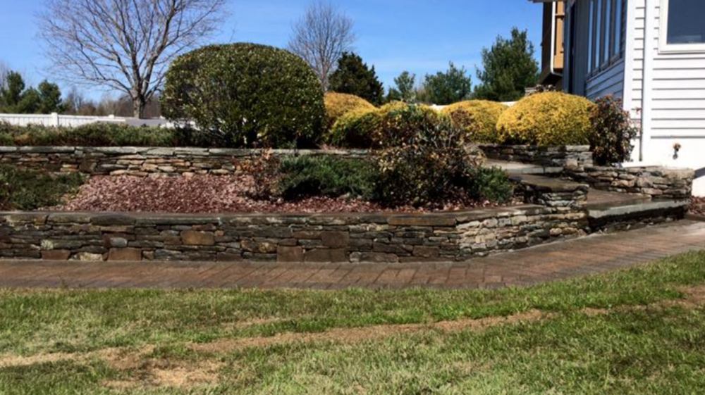 retaining wall ideas in goshen, pine island, orange county, ny