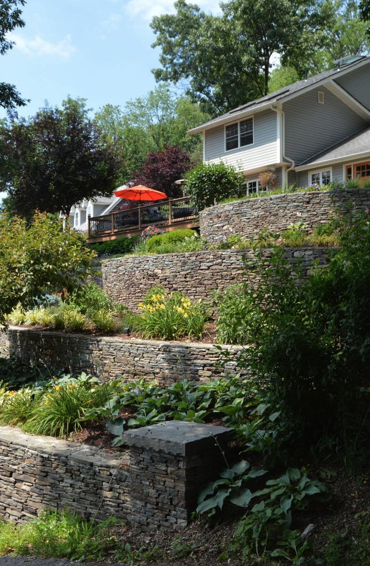 Top retaining wall in Pine Island, New York