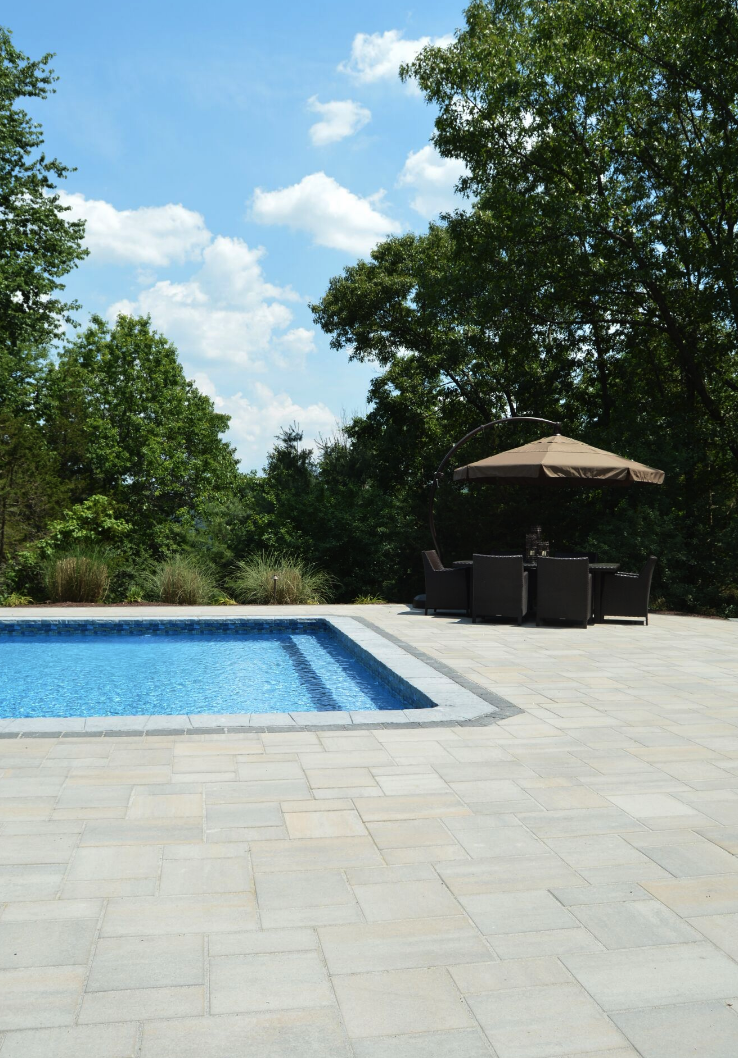 Landscape design with swimming pool in Warwick, New York