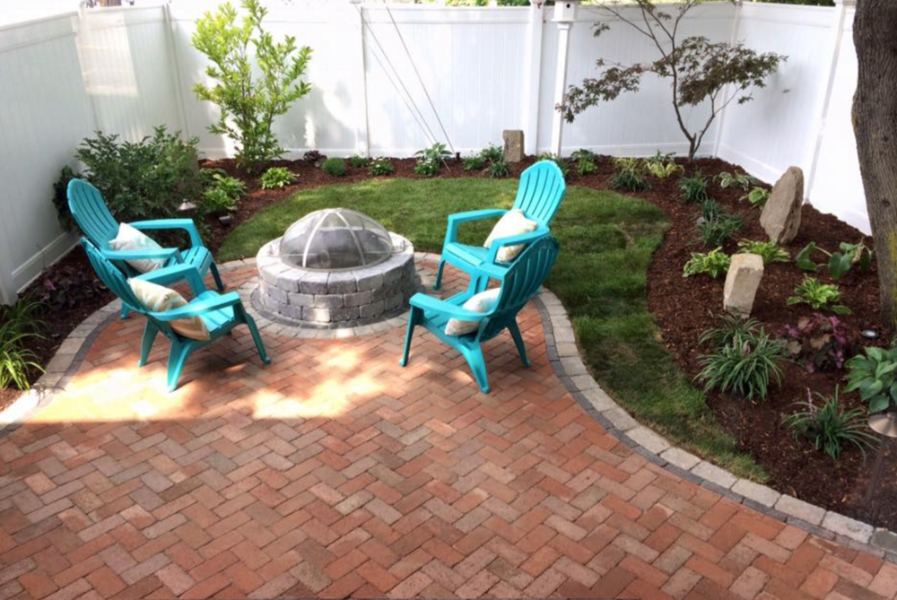 another picture of the after of the patio and fire pit