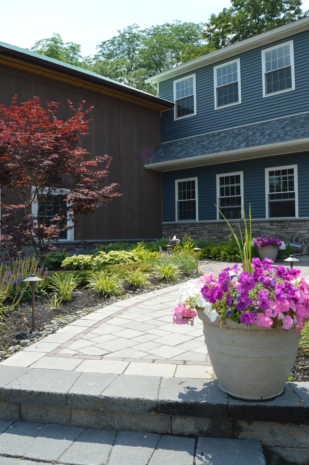 Goshen, NY walkway and steps with concrete pavers