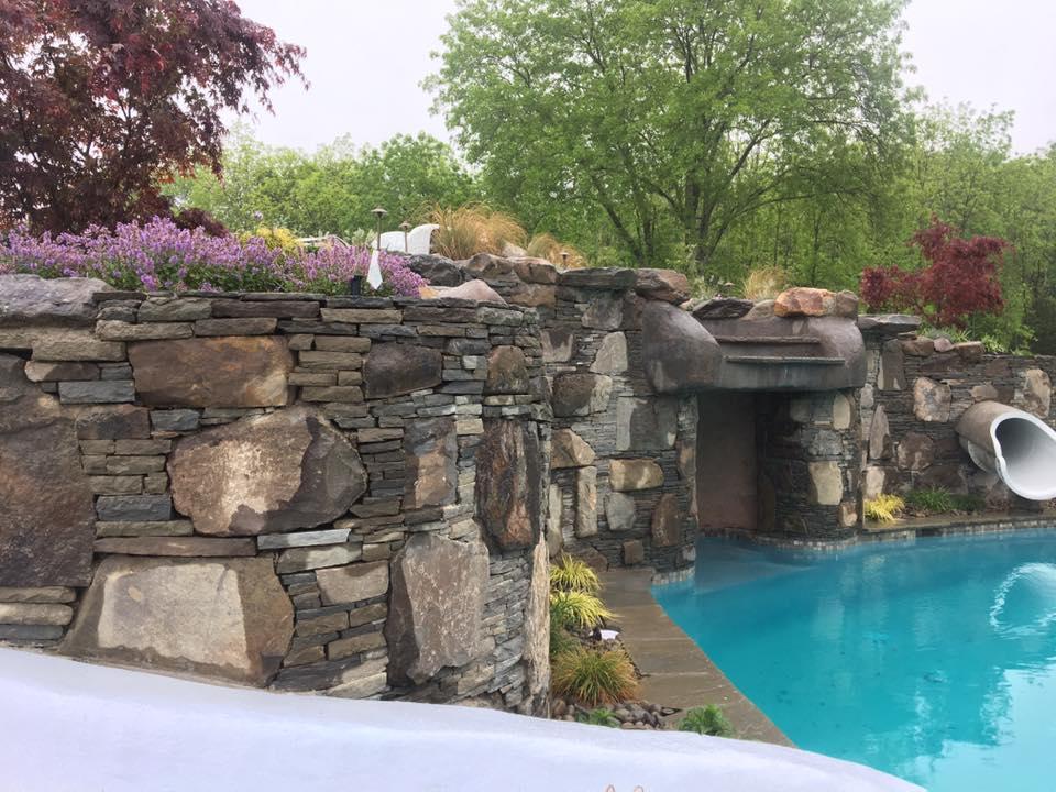 Boulder Features for a Tranquil Swimming Pool Area in Bethel, NY