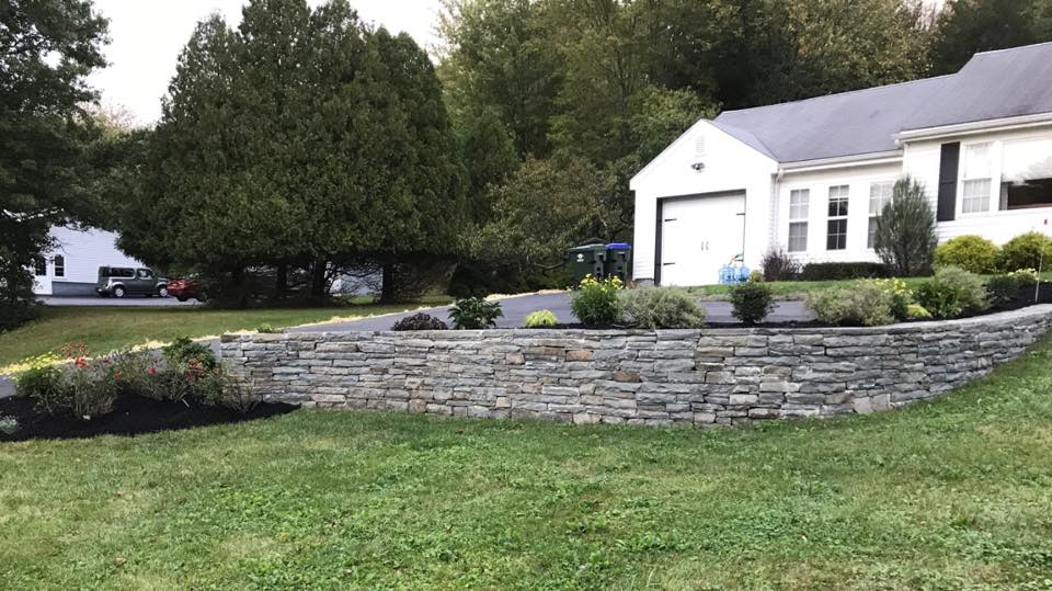 New retaining wall in Florida, New York