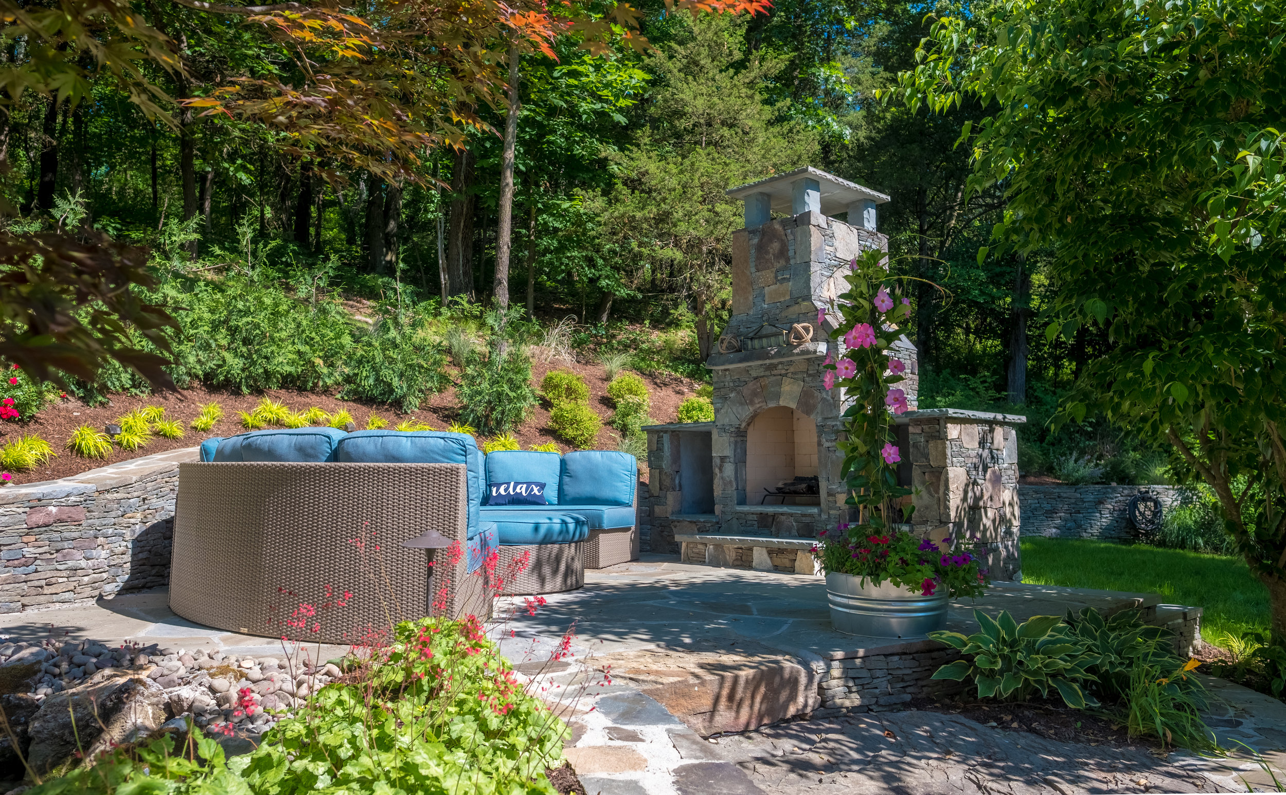 Image of: Get Cozy With These 5 Outdoor Fireplace Designs In Goshen Ny Landworx Of Ny Landscape Design And Build Goshen Ny Hudson Valley Landscaping Company