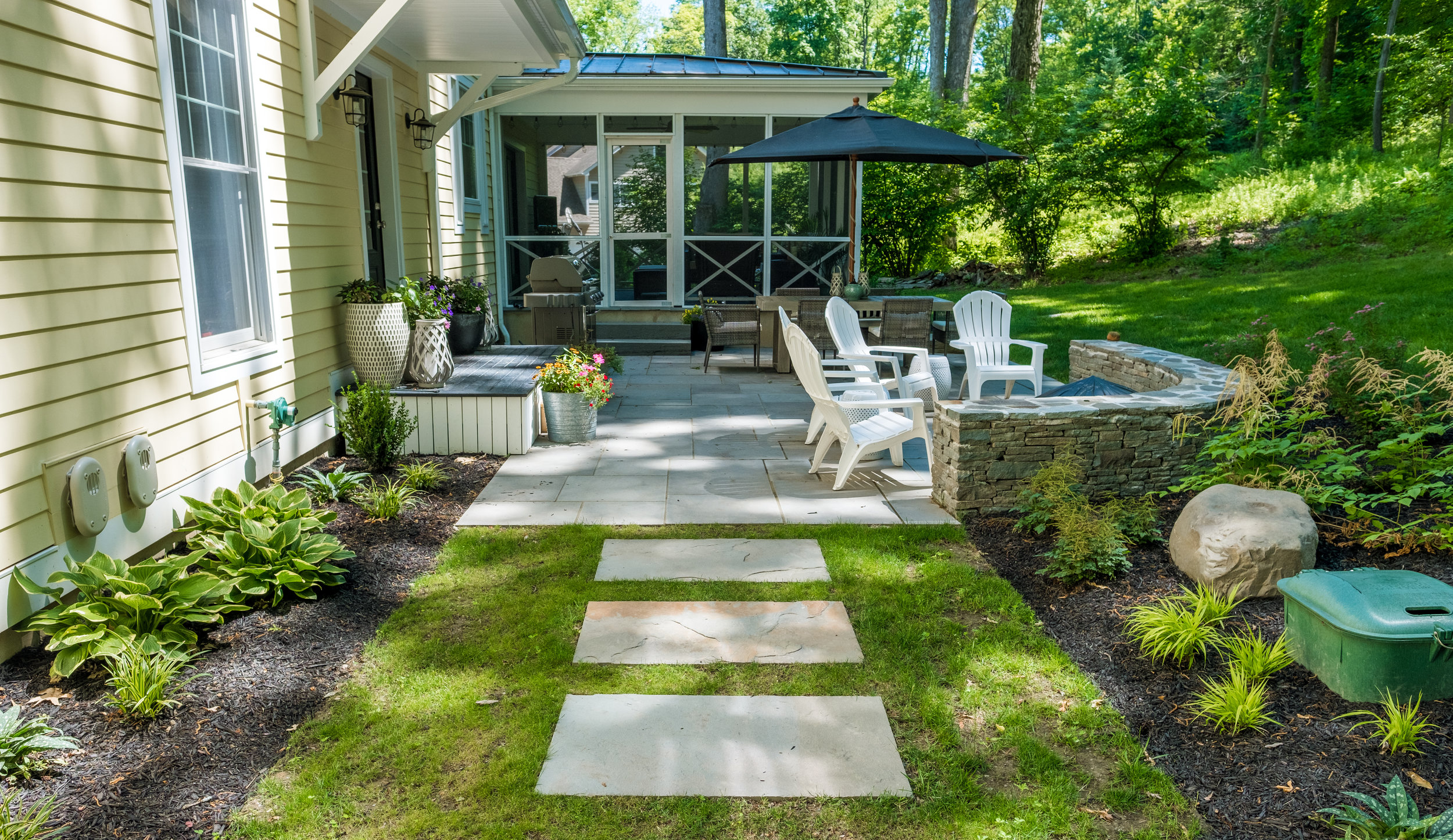 Outdoor Lighting Ideas To Make Your Patio Usable Year Round In Florida Ny Landworx Of Ny Landscape Design And Build Goshen Ny Hudson Valley Landscaping Company