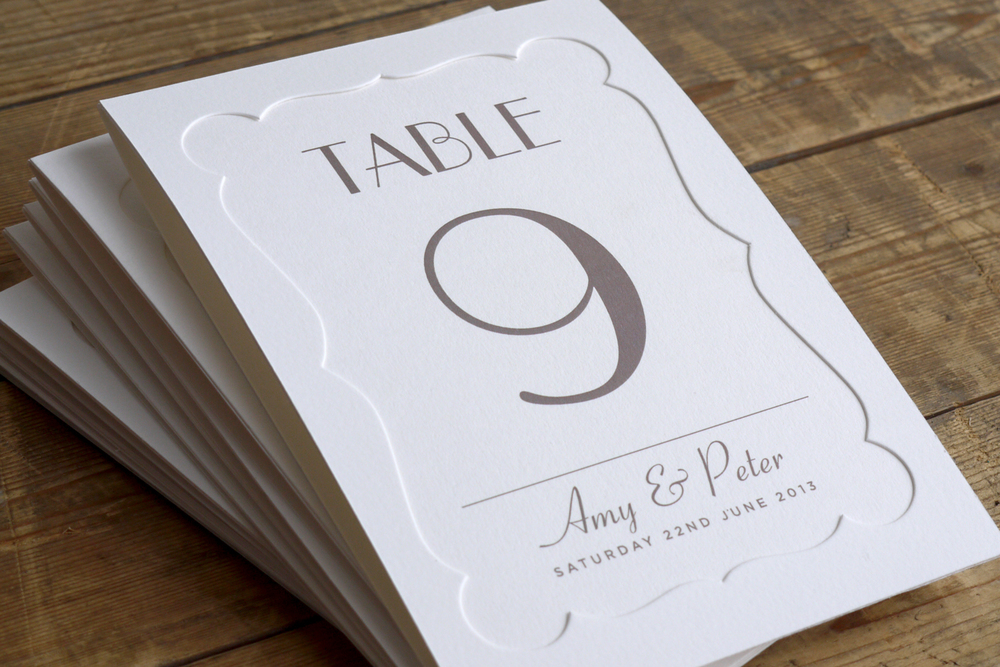 table numbers Astaire Collection