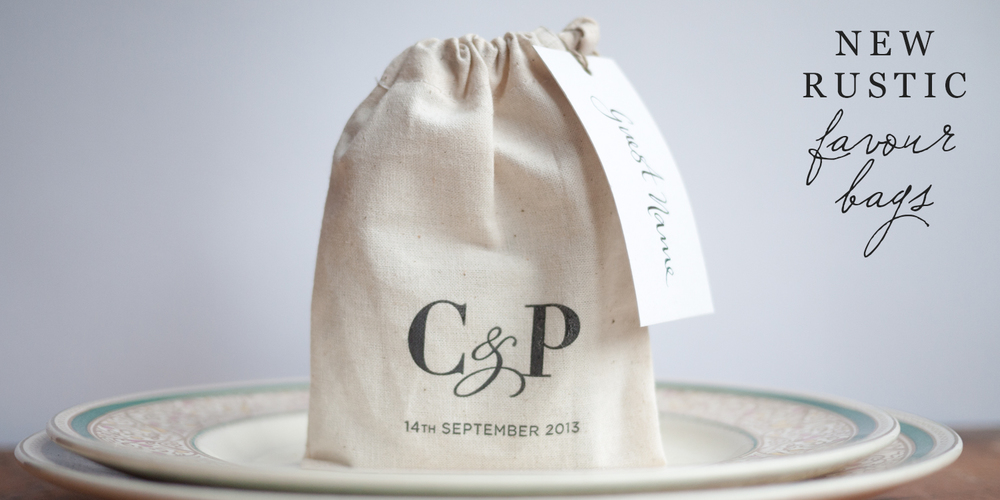 rustic favour bags