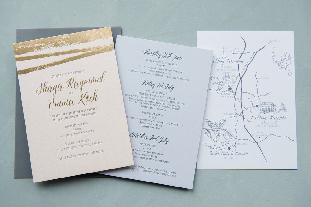 tuscan wedding invitation