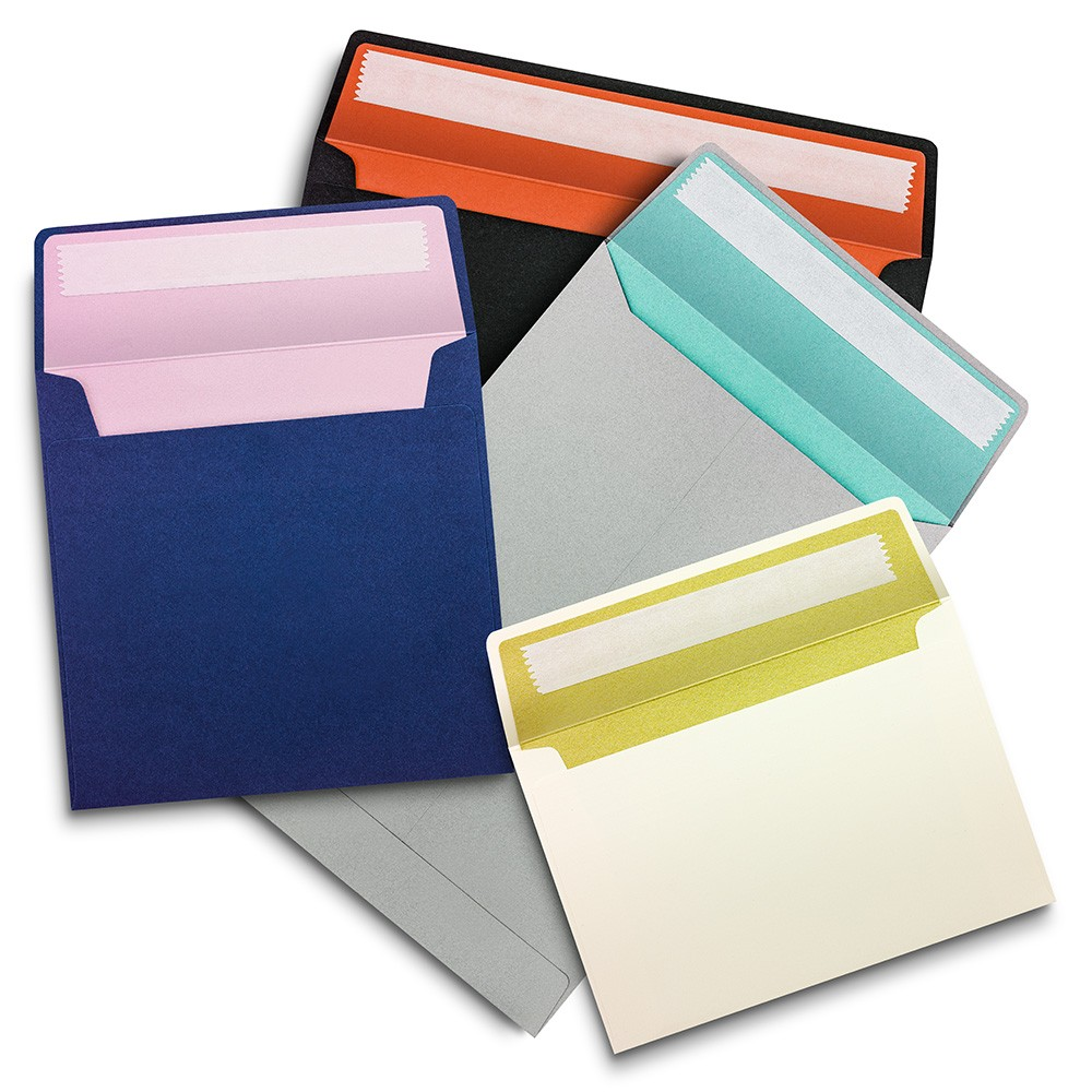Bespoke colour and metallic lined envelopes