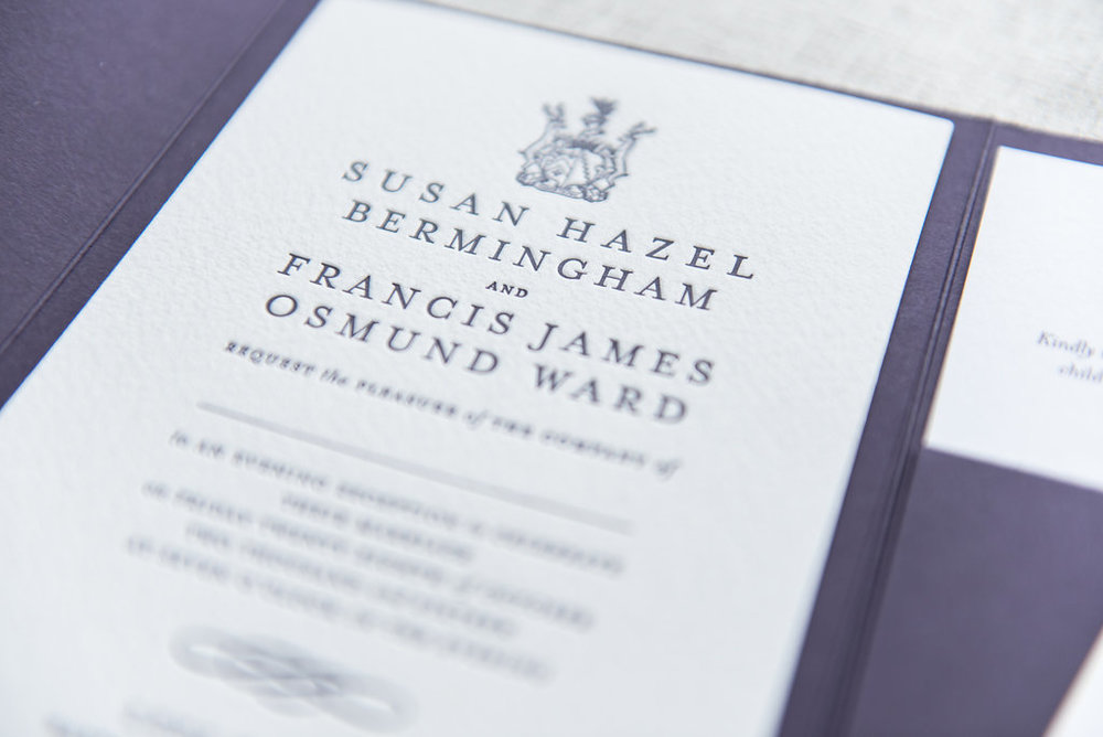 THE COLLECTION - Luxury letterpress wedding stationery available in a in a wide range of designs and finishes to match your big day. Off the shelf designs including vintage, classic, boho, modern and destination.