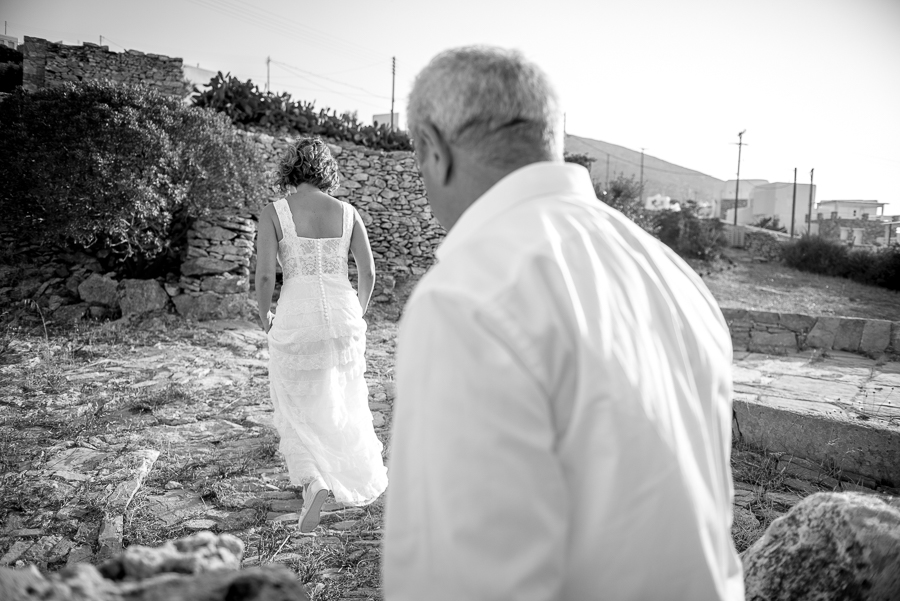 75_Wedding in Folegandros bride going to church.jpg