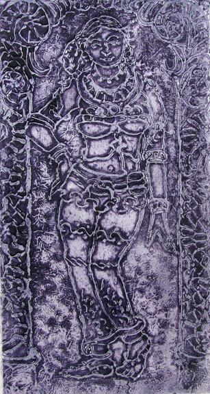 Collagraph by Arthi Mohan -  Dancing Girl  - 2007 - Chennai, India
