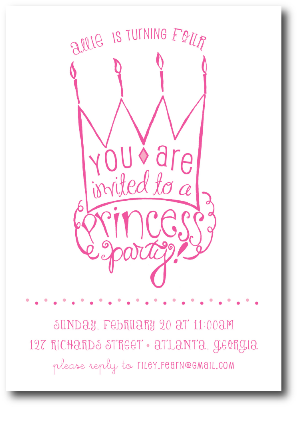 Printable princess birthday party invitation tickled ink filmwisefo