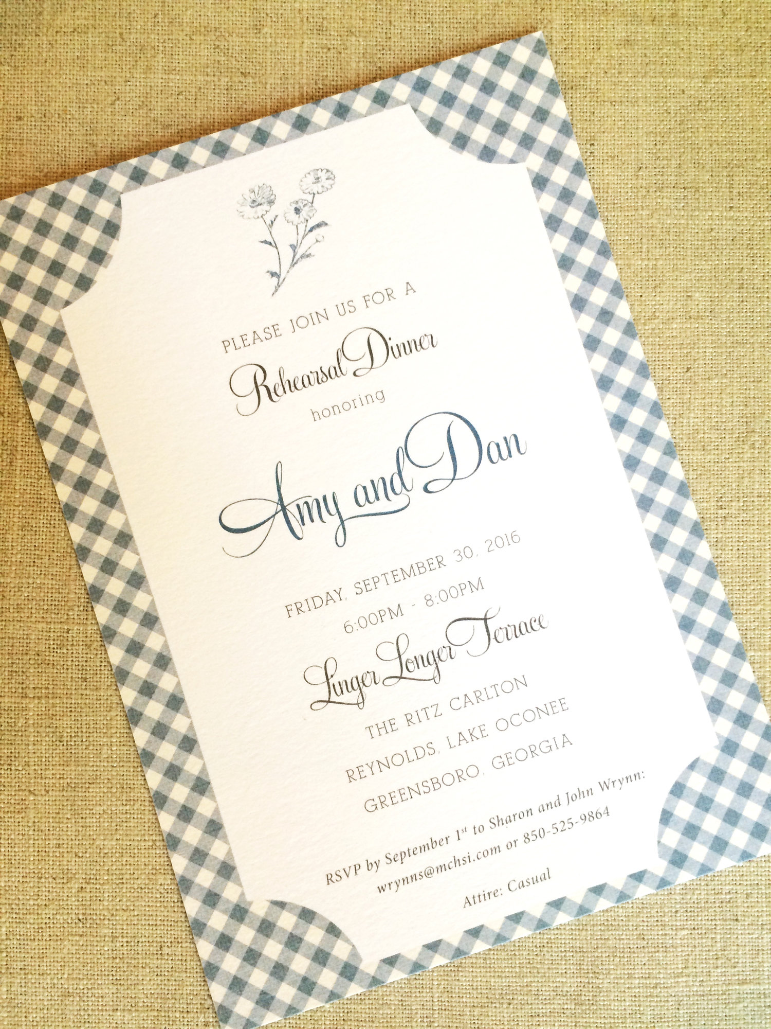 We Got Married Party Invitations
