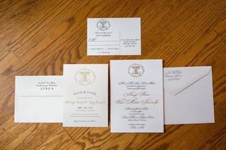 Save the Dates and Invitations (with gold foil and letterpress)