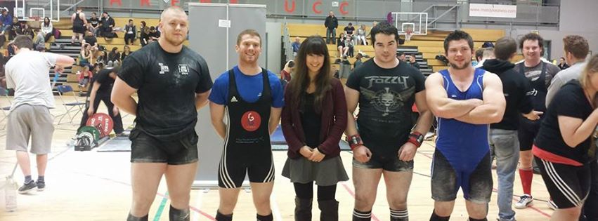 UL Powerlifting Team, Arthur is far right here