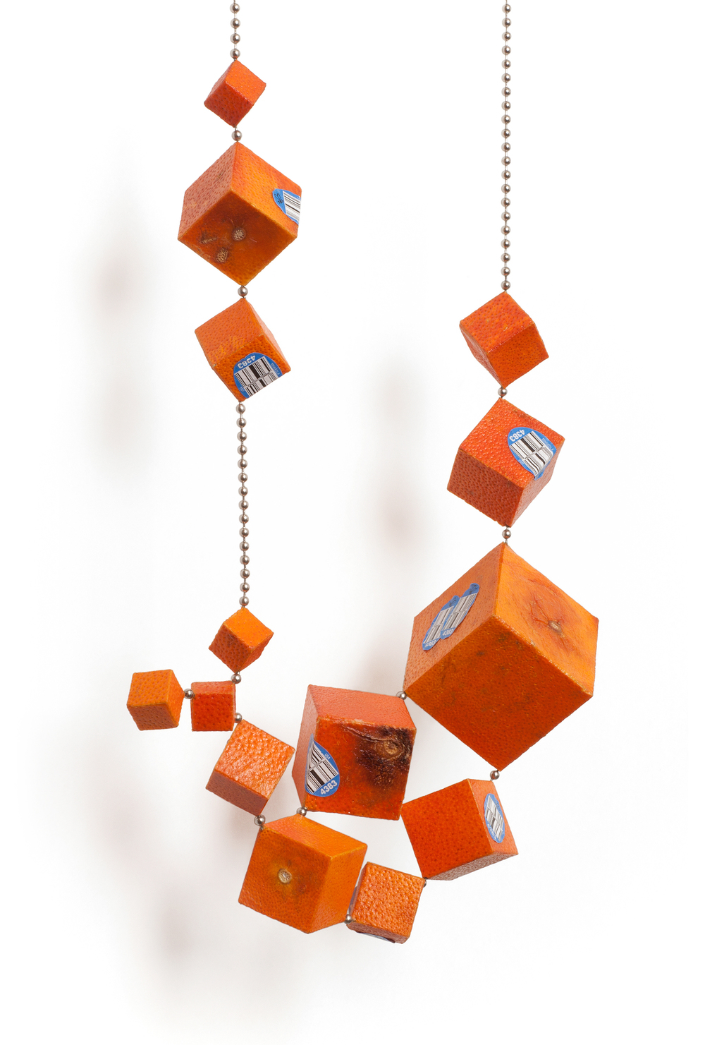 Cubic Tangelo Necklace I by Joshua Kosker