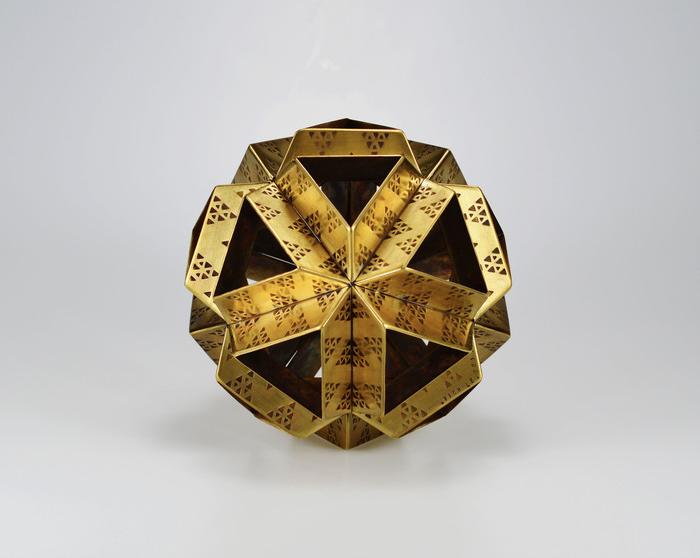 "Vinh Le -  Rising Sun     5""   x 5"" x 5""    Fabricated brass plates"