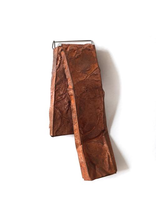 "Kathleen Janvier        Scivolo,  2018 Electroformed Copper, Steel 3.25"" x 1.5"" x .75"" $400.00"