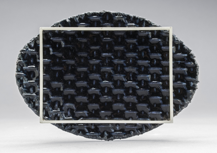 Keith Lewis      The Saddest Aisle #14 , 2015 Electroformed copper, enamel, sterling, steel 9 cm x 13 cm x 1 cm $2200.00