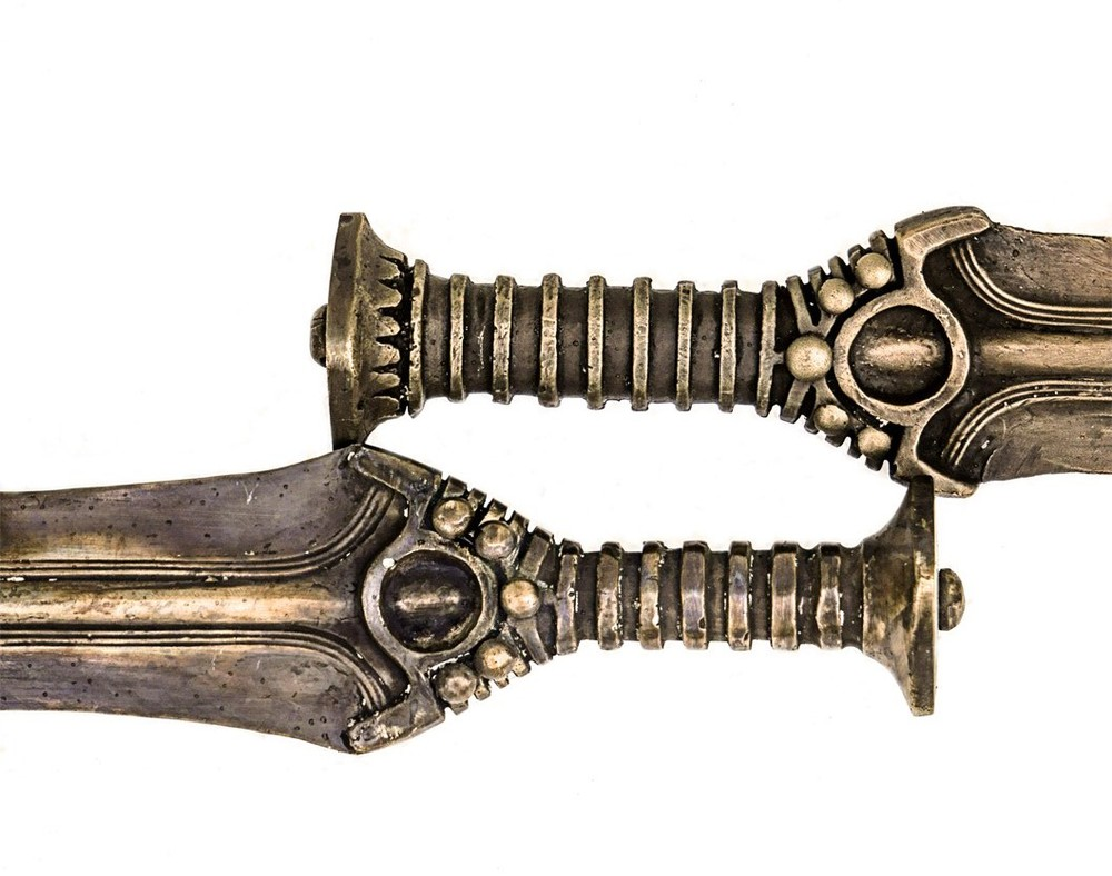 Shown above are two Nordic late Bronze age sword handles.