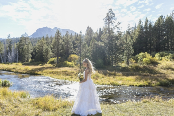 Beautiful Bridal Shoot in Lassen Volcanic National Park