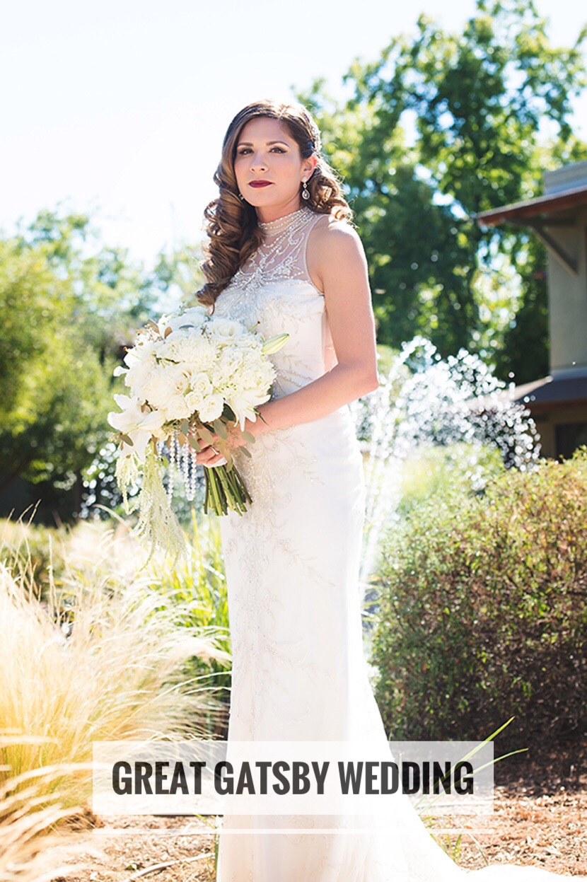 Great Gatsby Wedding | Velours Floral Design | Redding CA