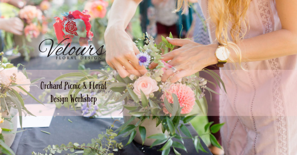 Velours Designs Orchard Picinic Flower Workshop