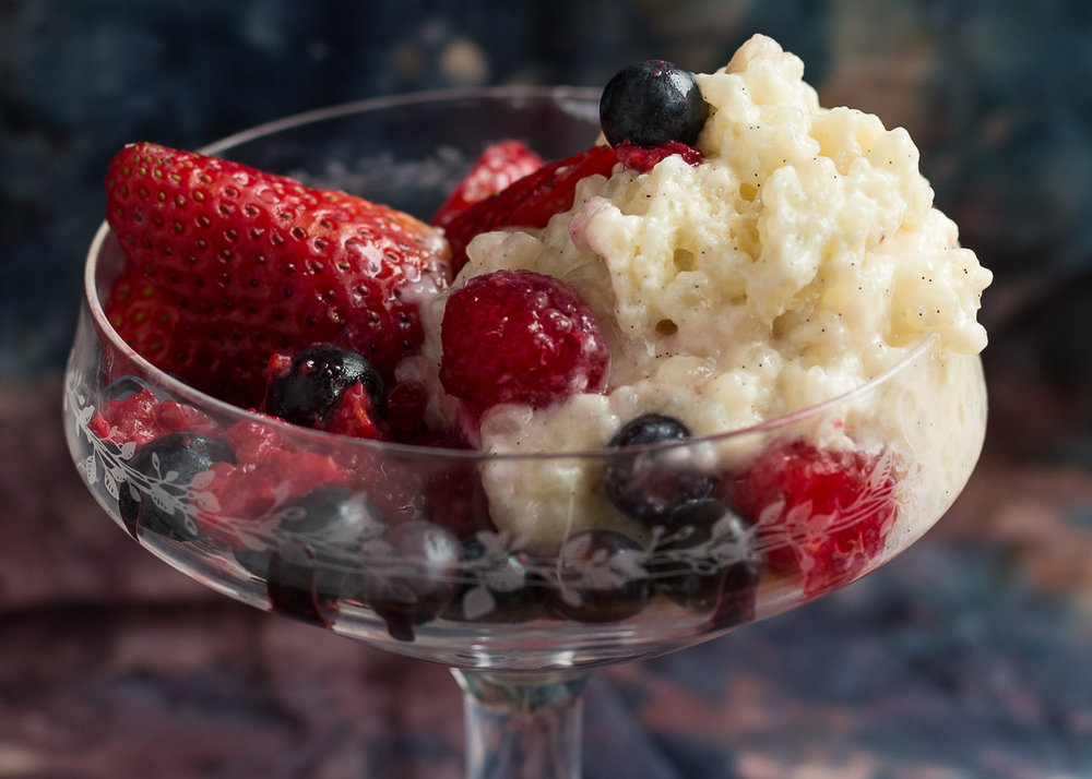 Tapioca Pudding with Strawberries