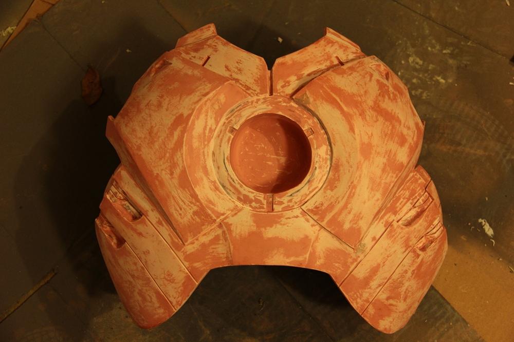 Chest Plate (Bondo/Sanding)