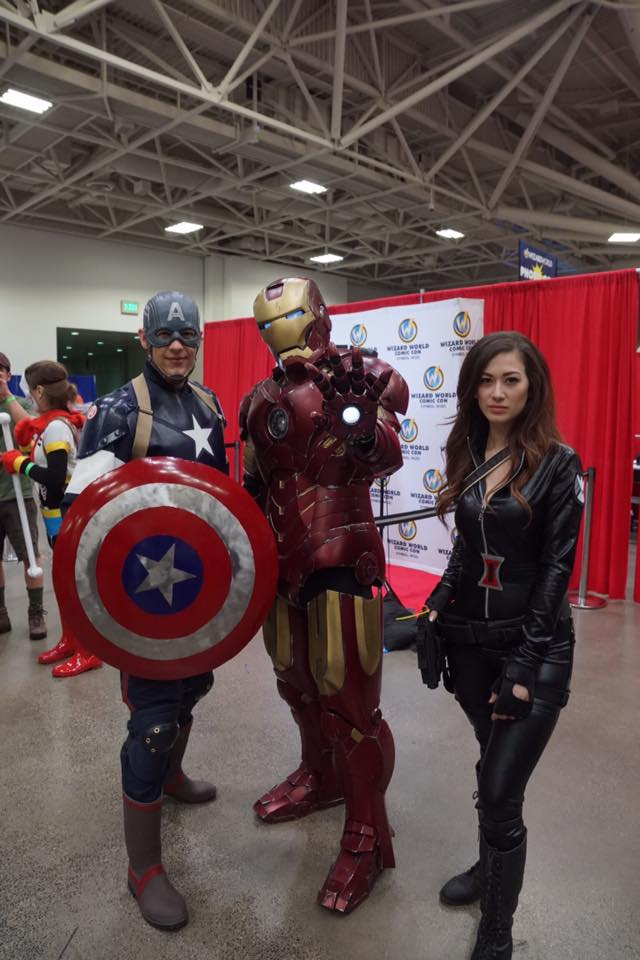 Iron Man meets Captain America and Black Widow